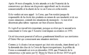 Question au Gouvernement: Mise en place des recommandations de l'autorité de la concurrence